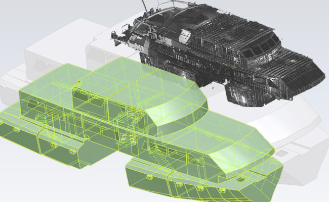 Vessel laser scan