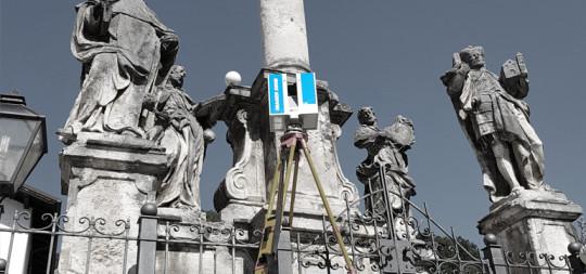 3D skeniranje Marijinega znamenja